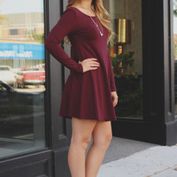 New In Town Dress - Maroon