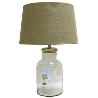Clear Fillable Glass Jar Lamp With Burlap From Hobby Lobby