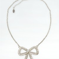 Pave Bow Necklace | Necklaces | rue21