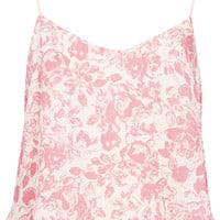 Pink Floral Strappy Cami