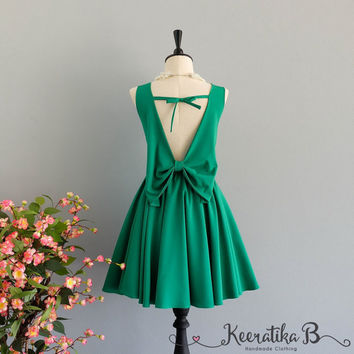 Party Angel Dress Grass Green Backless Party Dress Green Backless Dress Prom Party Wedding Cocktail Bridesmaid Dresses Green Dress XS-XL