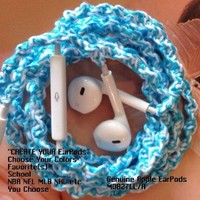 MyBuds Wrapped Tangle-Free Earbuds for iPhone | Create Your Own | Genuine earPods with Microphone and Volume Control