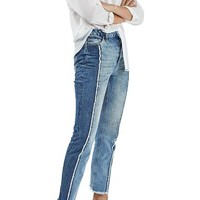 Topshop Panel Crop Straight Leg Jeans | Nordstrom