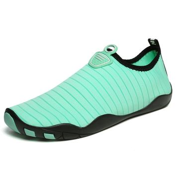 2018 New Men and Women Aqua Shoes Outdoor Barefoot Soft Yoga Fitness Slip-on Water Shoes