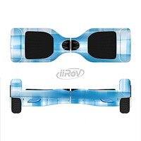 The Overlapping Blue Woven Full-Body Skin Set for the Smart Drifting SuperCharged iiRov HoverBoard