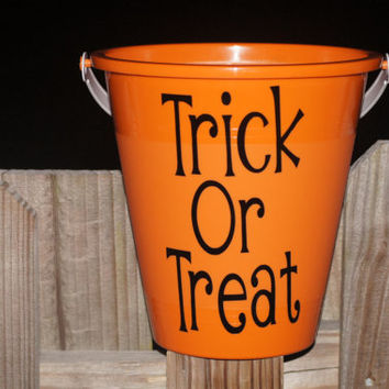 Personalized Halloween Trick or Treat Bucket