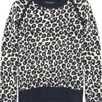 Iris & Ink Esme leopard-print knitted sweater – 0% at THE OUTNET.COM