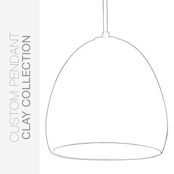 Custom Design Your Porcelain Ceramic Clay Pendant Light