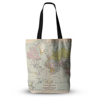 "Catherine Holcombe ""Travel"" World Map Everything Tote Bag"