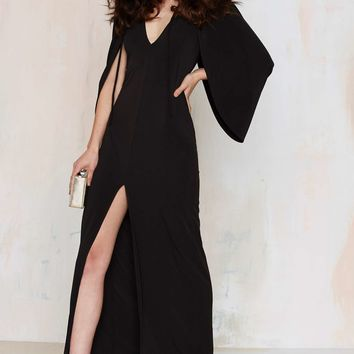 Nasty Gal Just Wing It Cold Shoulder Dress
