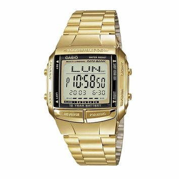 Casio Men's DB-360G-9A Digital Gold-Tone Stainless Steel Watch - CLEAR