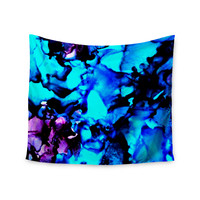 "Claire Day ""Peace Offering"" Blue Aqua Wall Tapestry"