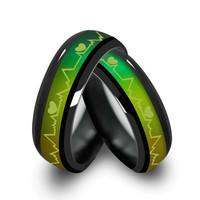 MMS Fashion Titanium Black Mood Rings Temperature Emotion Feeling Engagement Rings Women Men Promise Rings For Couples Jewelry