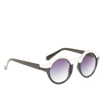 Henry Round Sunglasses in Black/Silver - BCBGeneration