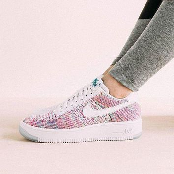 Nike Air Force 1 Flyknit Low'White Multicolor Sneakers