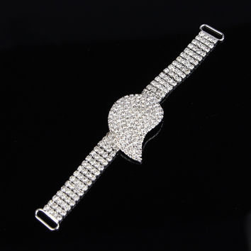 1 Piece Rhinestone Silver Plated Sexy Bikini Connector / Buckle Copper Chain Fit For Pin Up B01746Y