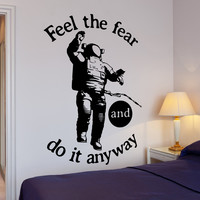 Wall Vinyl Decal Motivation Quote Austronaut Space Do It Anyway Home Decor Unique Gift z4300