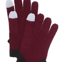 Contrast Bow Texting Gloves