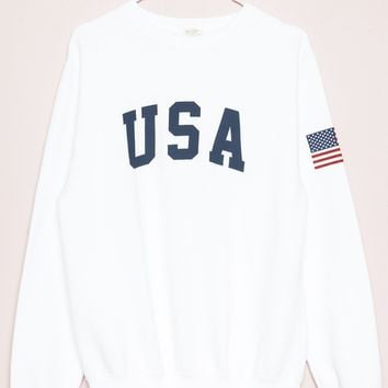 Erica USA Sweatshirt - Embroidery - Graphics
