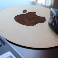 Wooden Apple Mouse Pad