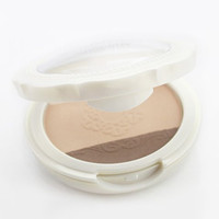 Cosmetic 3 Colors Highlight Bronzing Powder Pressed Powder Palette with Mirror