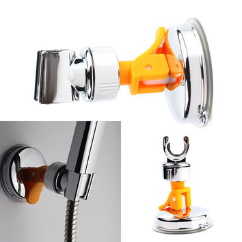 New Adjustable Attachable Rotatable Chromed Shower Head Holder with Suction Bracket #67264