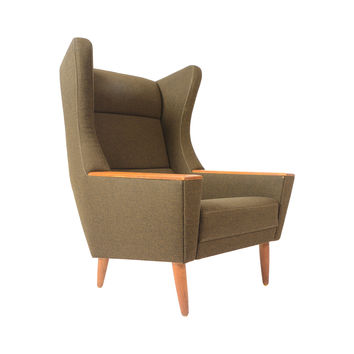 Vintage Artur Wingback Lounge Chair
