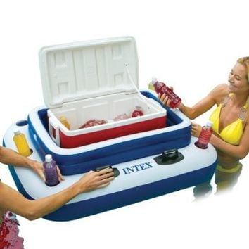 INTEX Mega Chill II Inflatable Floating Beverage Cooler with Lid | 58821EP
