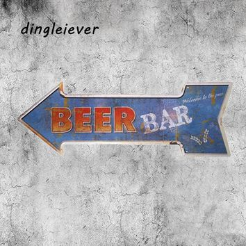 Beer bar wine poster vintage metal wall poster modern wall art garage man cave signs and decor