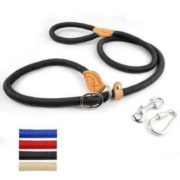 2 Sizes Durable Nylon Rope Slip Pet Dog Training P Choke Leash Outdoor Walking Lead Strap Collar
