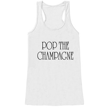 Custom Party Shop Women's Pop The Champagne New Years Tank Top