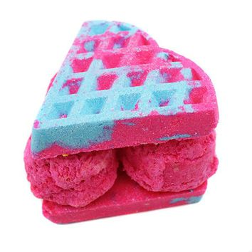 Sweet Tooth Heart Waffle Ice Cream Bath Bomb Sandwich