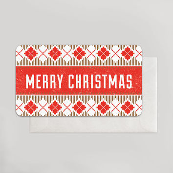 Cross Stitch Merry Christmas Enclosure