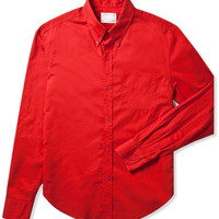 Red Solid Batiste Shirt