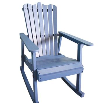 Outdoor Furniture Rocking Chair Wood 4 Colors American Country Style Antique Vintage Adult Recliner Large Garden Rocking Chair