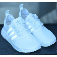 ADIDAS Women Men Running Sport Casual NMD Shoes Sneakers White