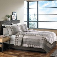 Eddie Bauer Fairview 3-Piece Cotton Reversible Quilt Set, King