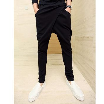 2016 Men's Hip Hop Streetwear Casual Fashion Sweatpants Harem Pants