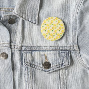 Lemon Pattern 2 Inch Round Button