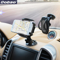 Cobao 360 degree universal car holder for phone strong suction windshield mount mobile phone holder stand for smartphone iphone