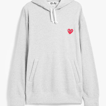 Comme des Garçons Play / Play Hooded Sweatshirt in Grey