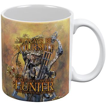 Always Be Yourself Unless Bow Hunter All Over Coffee Mug