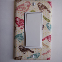 Multi Color Birds Rocker / GFI Switchplate Switch Plate