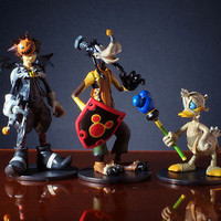Disney Magical Collection Set of 3 Kingdom Hearts Figures by Tomy