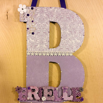 Baby Girl Nursery Decor, Custom Nursery Letters, Custom Wood Letters, Nursery Letters, Baby Nursery Decor, Children's Custom Nursery Decor