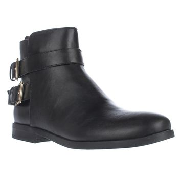 Tommy Hilfiger Julie3 Ankle Booties, Black, 6.5 US