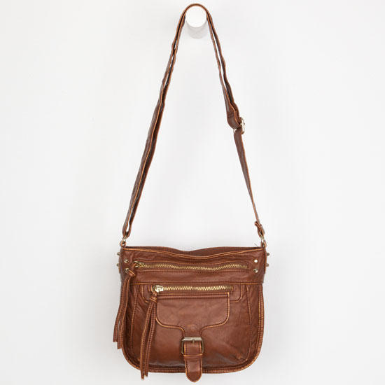 Washed Faux Leather Crossbody Bag 117