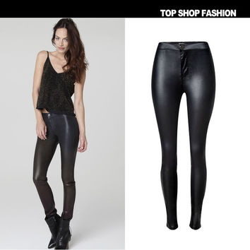 Fashion High Waist With Pocket Winter Plus Size Skinny Pants [6365914500]