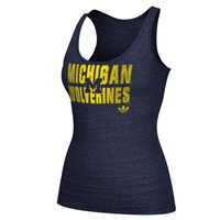 Michigan Wolverines adidas Women's Swept Away Triblend Tank Top – Navy Blue