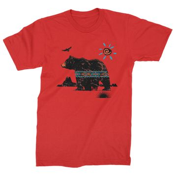 Native American Bear Southwest Mens T-shirt